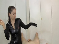 Catsuit Gloves Tease D...