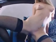 Blonde camgirl masturb... from Redtube