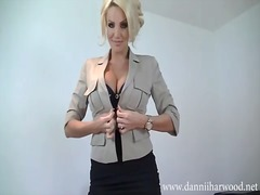 Busty office babe want...