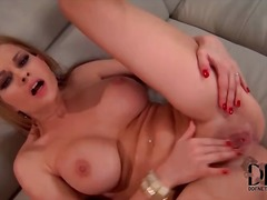 Pierced pussy fingered...