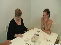 Redtube - Card game handjob