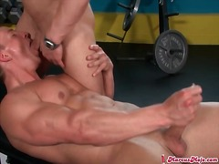 Weight lifter on his b... from Alpha Porno