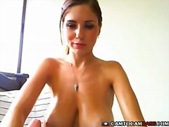 Big tits woman sucks t...