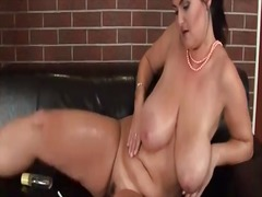Oiled up mature with c... from Alpha Porno