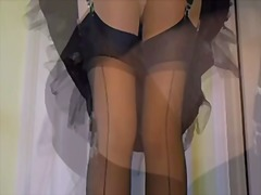 Xhamster - Lace satin and nylon s...