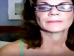 Milf with glasses lick... from Redtube