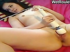 Pussy massaged and vib...