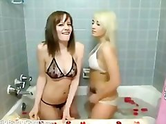 Two petite teens in th...