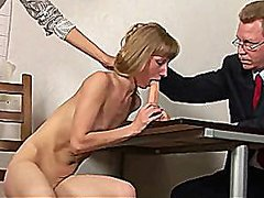 Skinny secretary teste... from Redtube