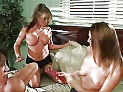 Lesbians threesome from Xhamster