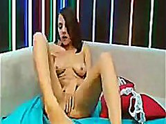Pretty cam girl with h...