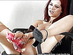 Redtube - Redhead plays with a r...
