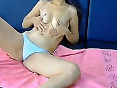Topless teen girl smoking from Redtube