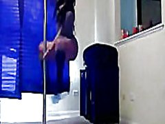 Ebony stripper pole da...