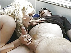 Blonde fucks with 2 wi...
