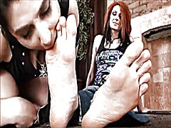 Lesbian foot worship 1 from Xhamster