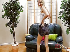 Blonde oriental with t...