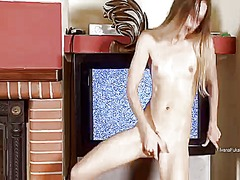 Ivana has fun with toy