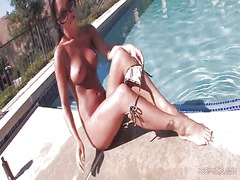 Asa akira pool side from Tube8