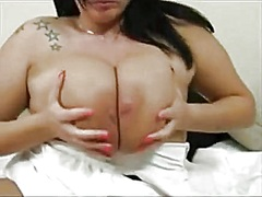 Heavy chested solo web... from Private Home Clips