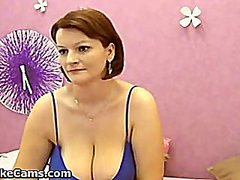 Milf with big breasts from Redtube