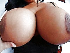 Brunette with big tits