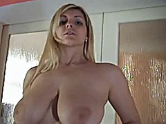 Blond big tits fingers...
