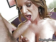 Ass fucked hoe gets cu...