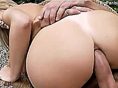 Anal sex outdoors with...