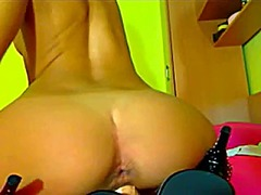 Webcam dildo show