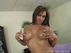 Buxom brunette with a ...