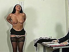 Brunette secretary int... from Redtube