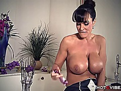 Huge, soapy boobs milf...