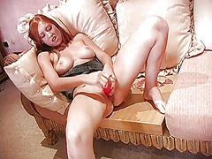 Cutie plays with vibrator from Ah-Me