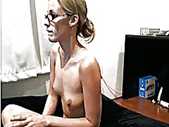 Blonde strips and fuck... from Xhamster