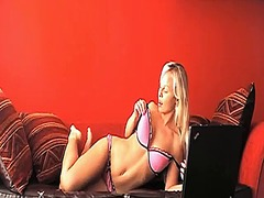 Hot blonde sharka stri...