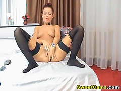 Tight cunt babe fingering