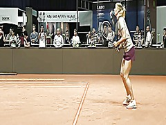 Maria sharapova warmin...