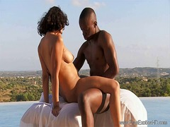 Exotic ebony outdoor love from Xhamster