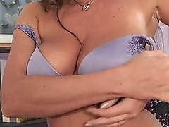 Milf slut gets some co...