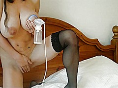 Woman pumping breast milk