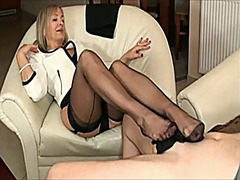 Mature with black pant...