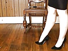 Shiney petticoat, heel... from Private Home Clips