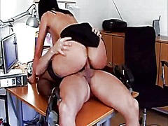 Dirty office brunette from Xhamster
