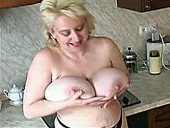 Mature woman with huge...