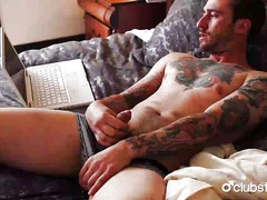Tattooed straight guy ... from Ah-Me