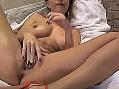 Sexy blonde toys on cam