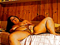 Woman pleasuring herse...