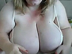 Monster tits flashed a...