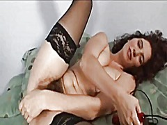 Xhamster - Curly hairy girl toying